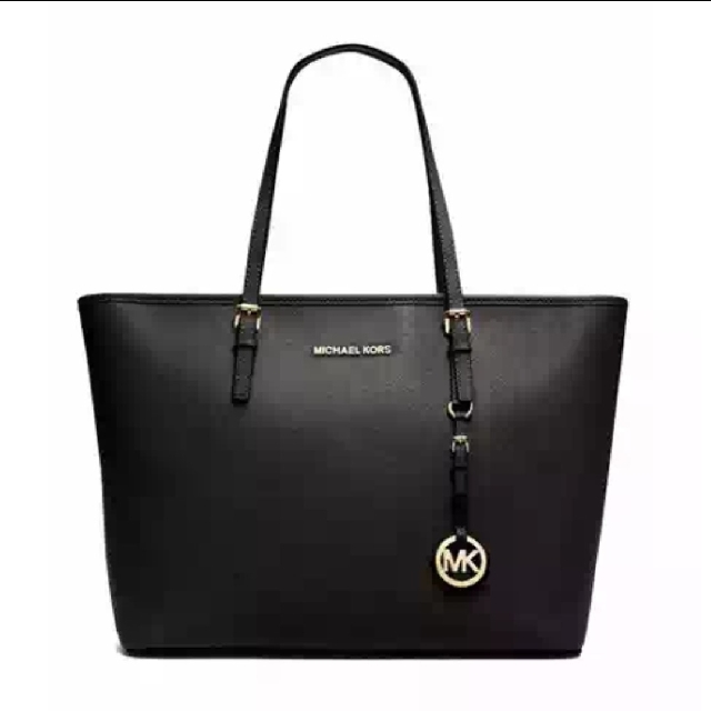 33d272dfea18 INSTOCK Michael Kors Inspired Leather Tote Bag, Women's Fashion ...