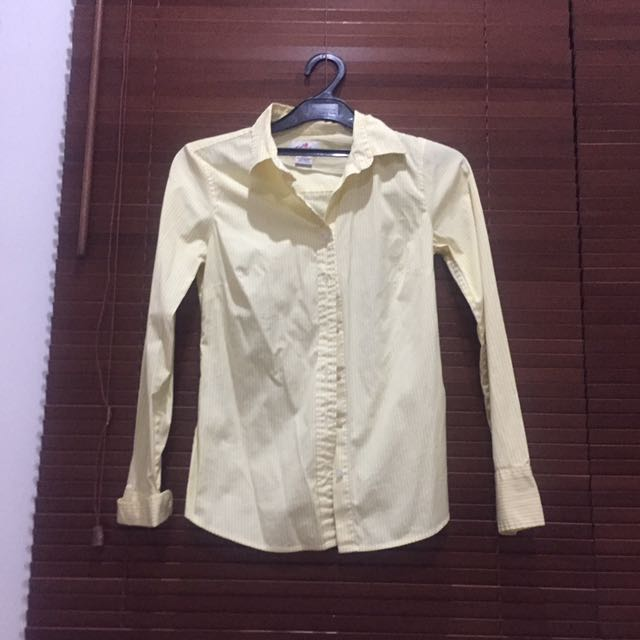 J Crew Yellow Stripe Shirt