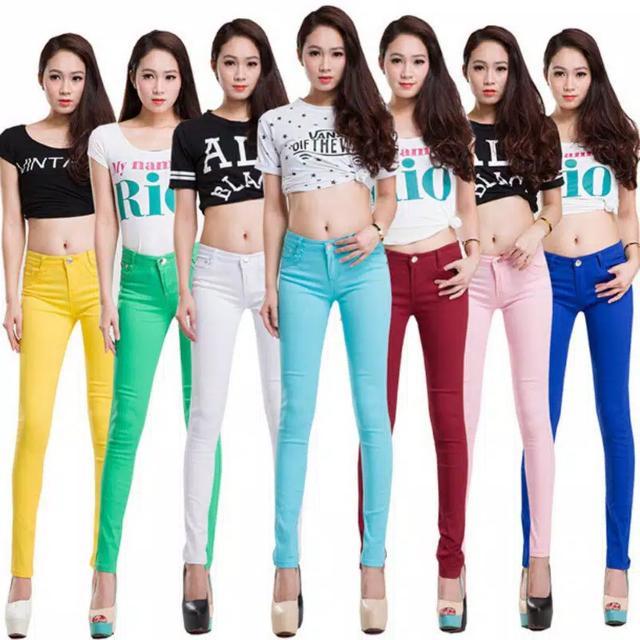 Jeans Warna Warni Korea Slim