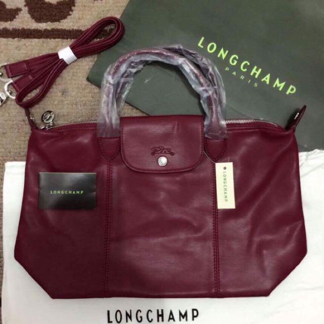 Longchamp leather