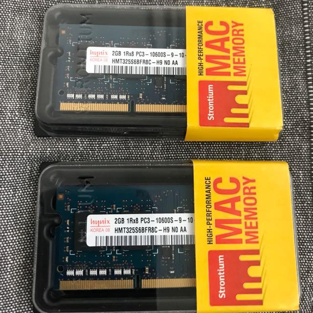 Mac/windows laptop/desktop Memory card 2Gb DDR3 PC3-10600Mhz