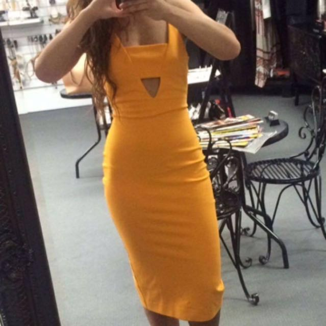 Mustard boutique dress like KOOKAI style