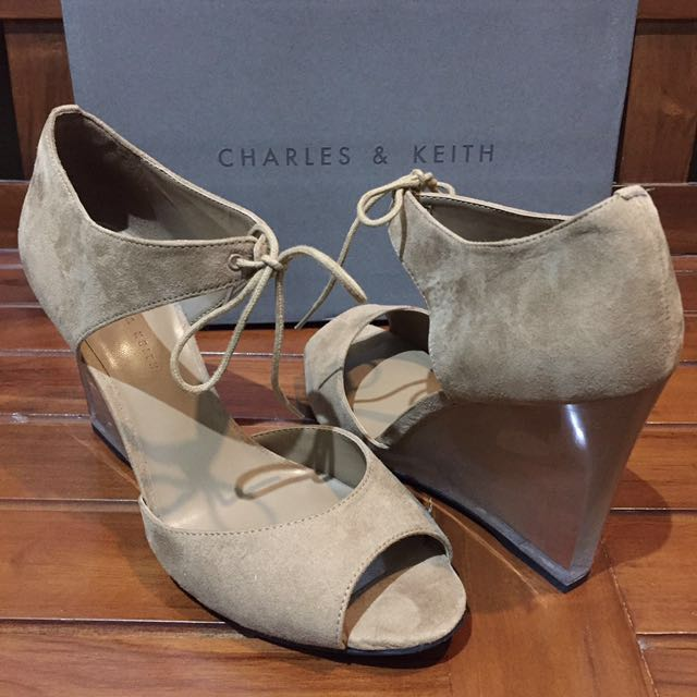 NEW! Charles & Keith Lucite Sandals