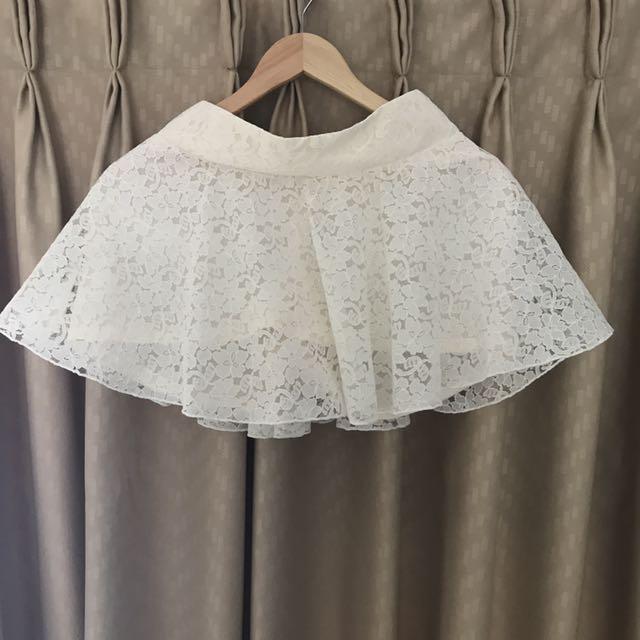 NEW floral white skirt