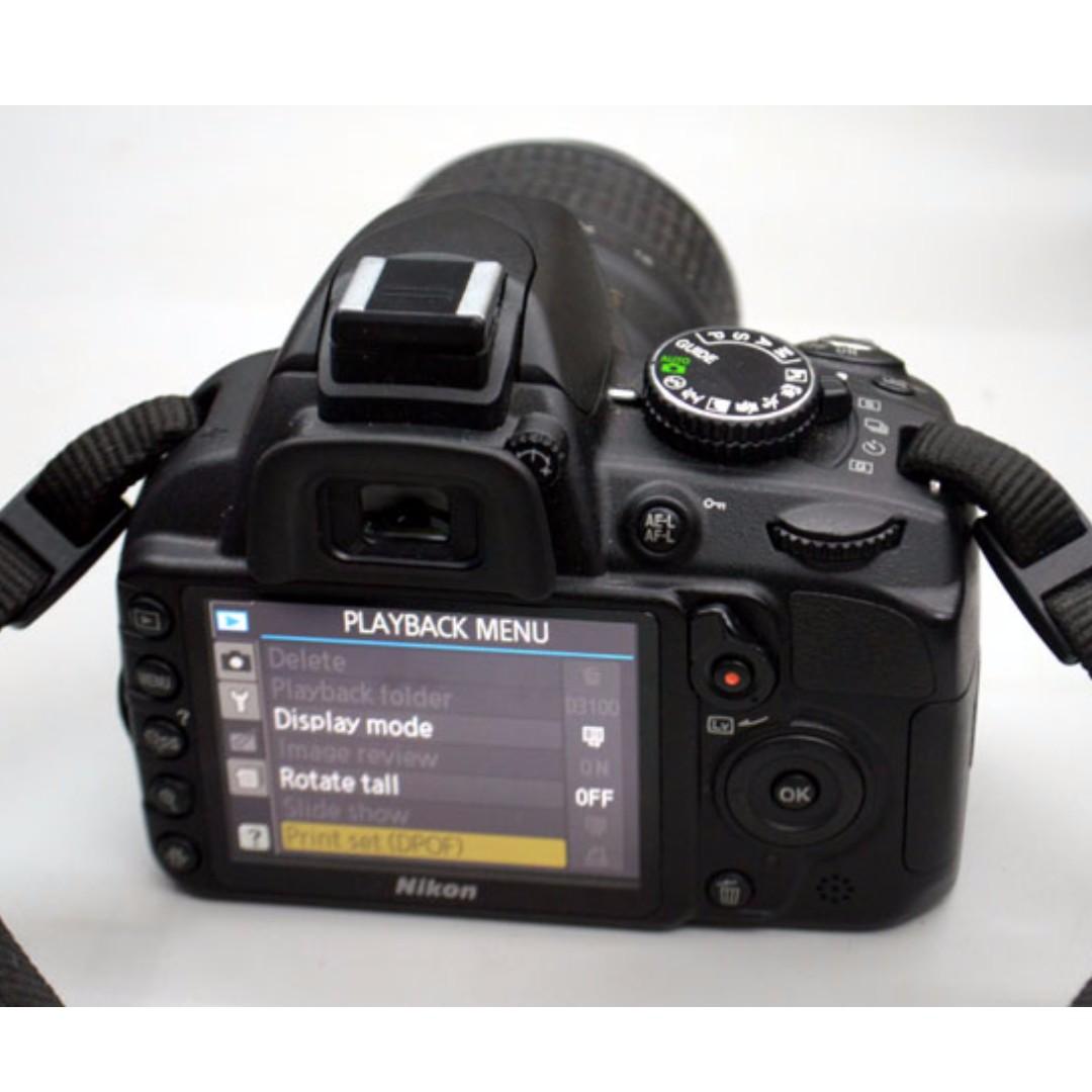 Nikon D3100 3k actuation w 18-55mm vr Auto Focus-S Nikkor Zoom Lens hd video