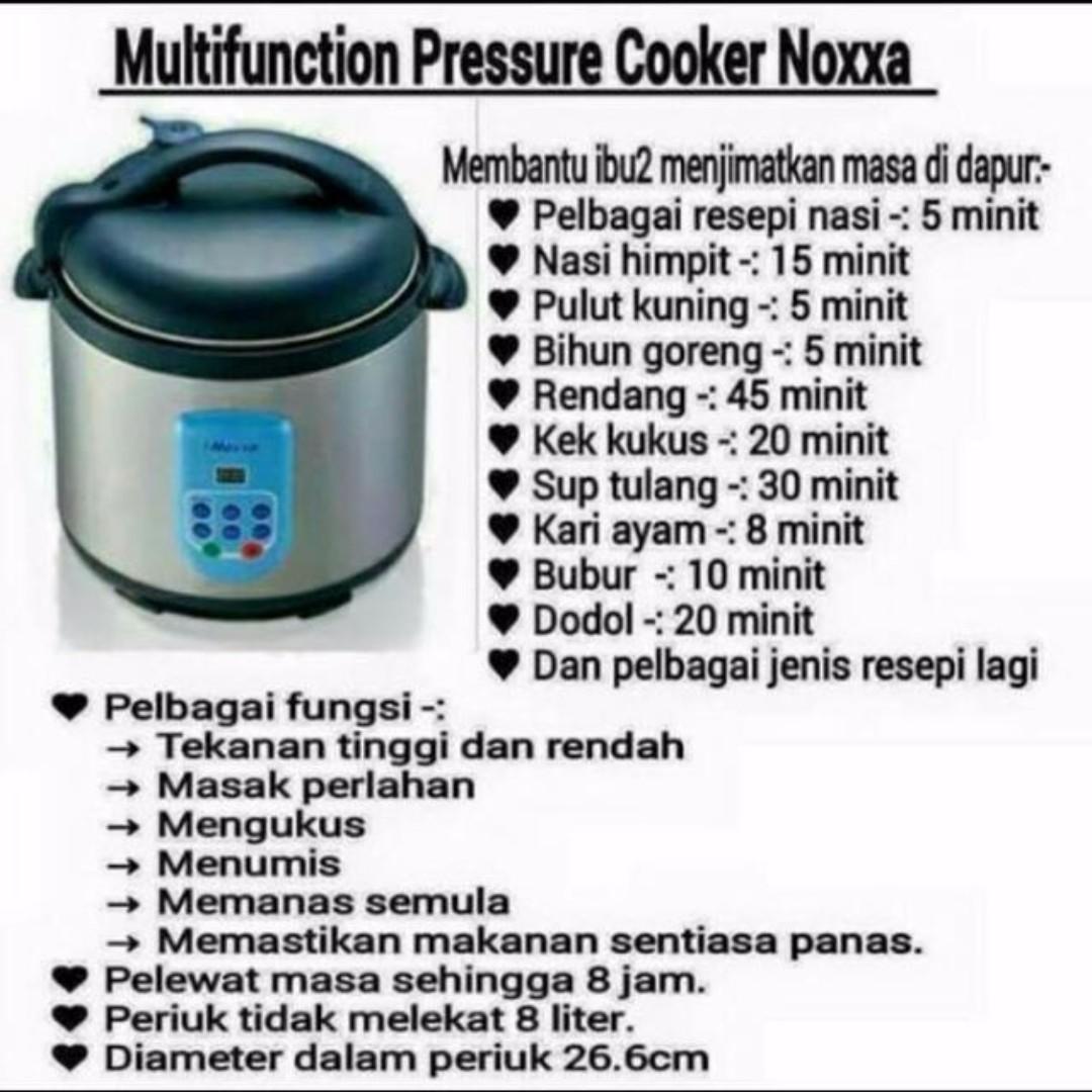 noxxa electric multifunction pressure cooker 1505448206 01140bc31 - Camne Nak Guna Pressure Cooker Noxxa Yang Best Ni?