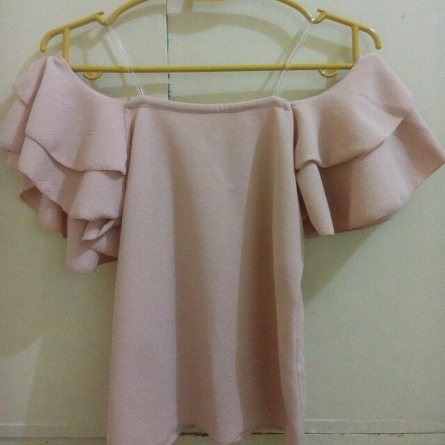 Off Shoulder Blouse (Nude)