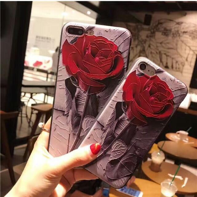 OPPO r9s plus 復古風 紅玫瑰 浮雕 手機殼