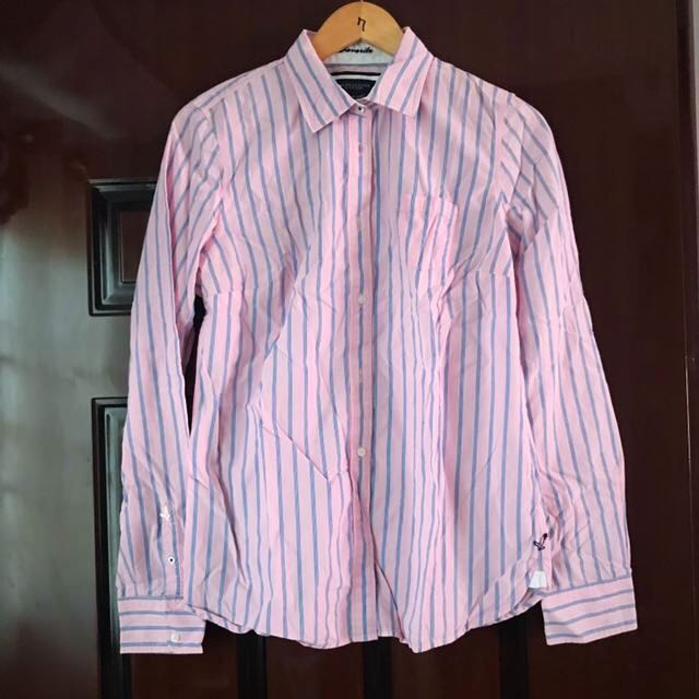 Pink Collared Shirt Size 12 - Authentic American Eagle Brand