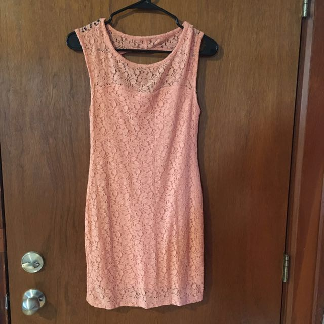 Pink Lace BCBG Dress