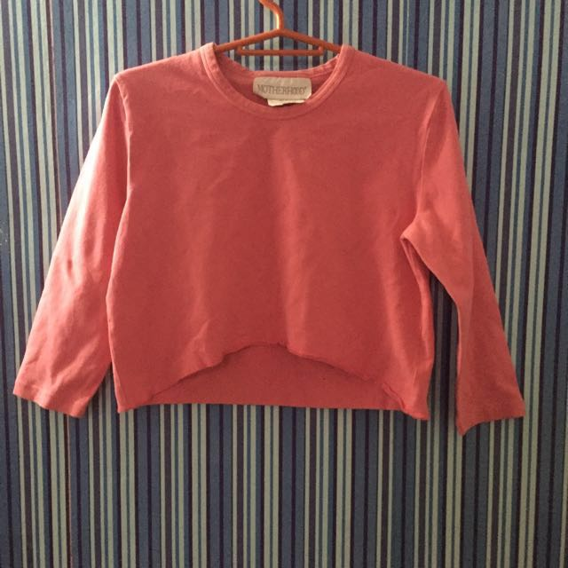 PINK LONG SLEEVE CROP TOP ❤️