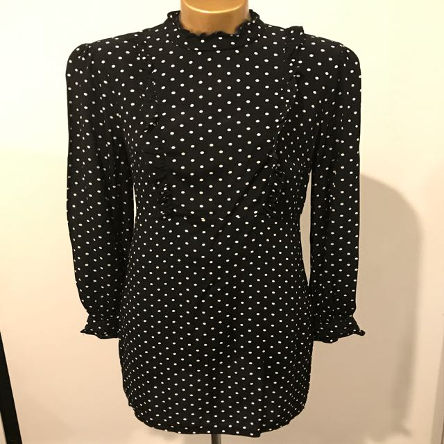 Portmans black and white polka dot dress