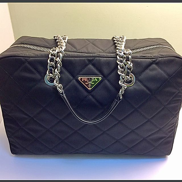 285365924f1c Prada Tessuto Impuntu Nero Bag 1BB774, Luxury, Bags & Wallets on ...