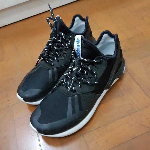 REPRICED SALE Preloved Adidas Tubular Runner Black size 8 men's