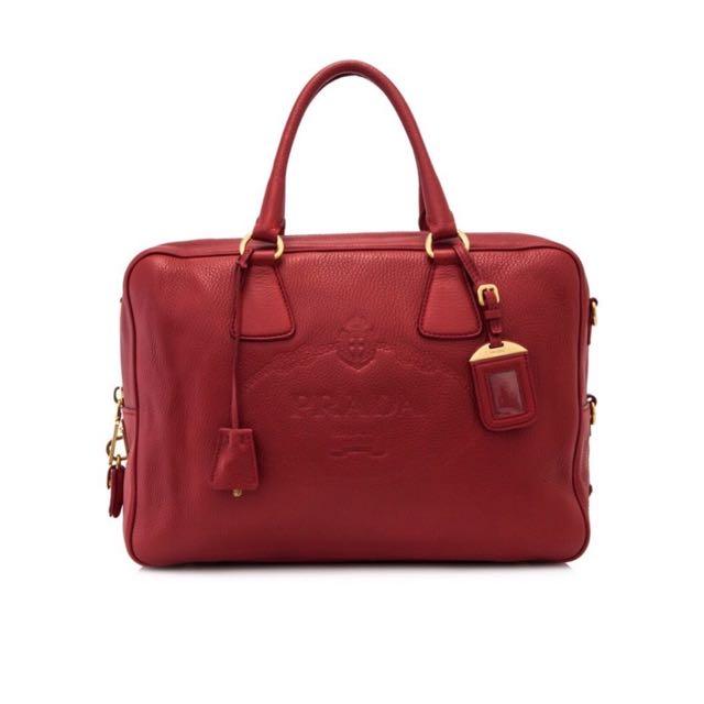 Preloved Prada Vitello Daino Shoulder Bag