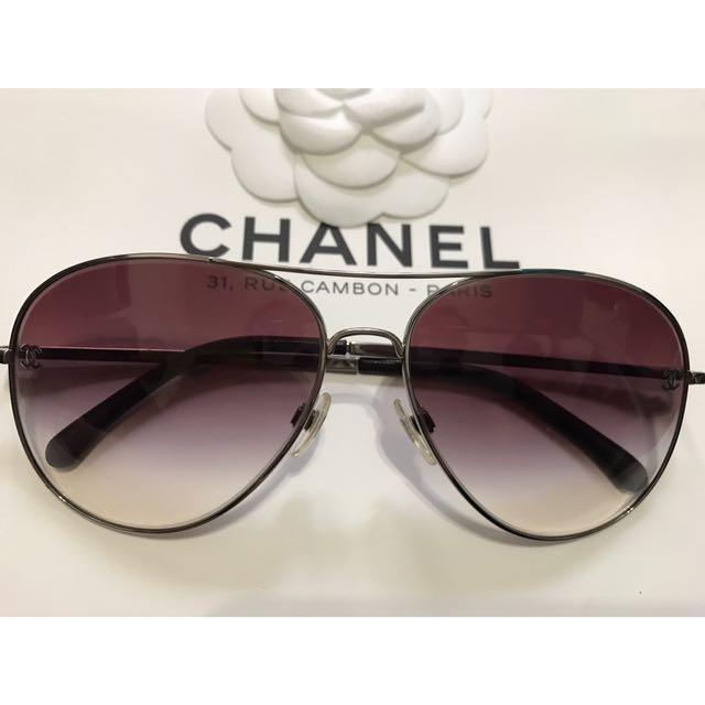 aaee6207e4e PRICE REDUCED) Authentic Chanel Aviator Sunglasses