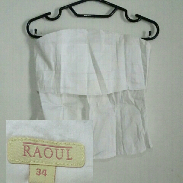 Raoul White Tube Top