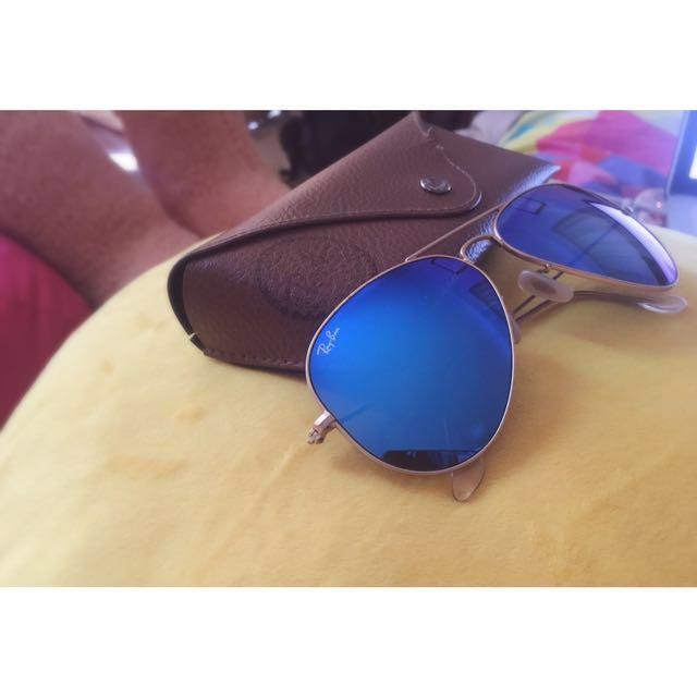 Rayban Polarised blue aviators!!