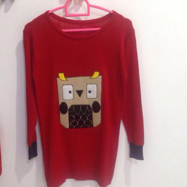 Red Owl Sweater