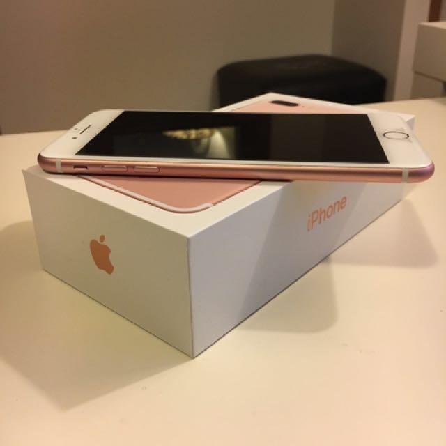 Rose gold iPhone 7 plus 256GB