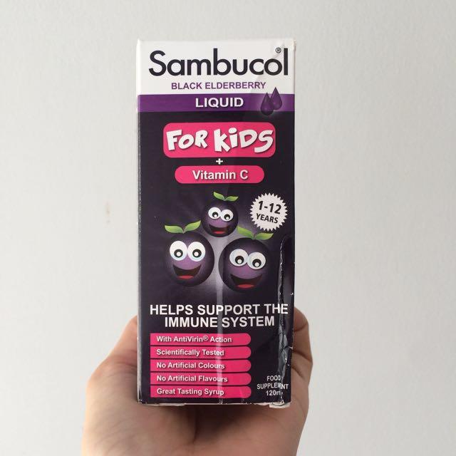 Sambucol for kids black elderberry with vitamin C multivitamin untuk anak
