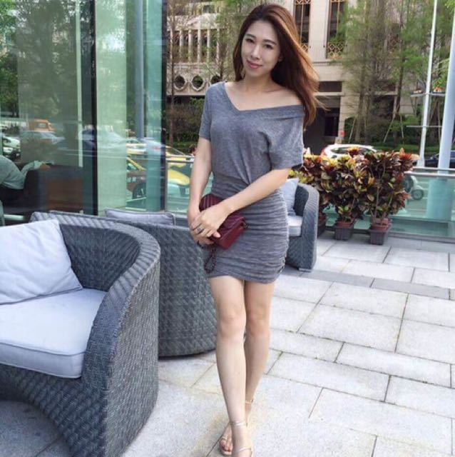 Senza s 灰色洋裝 單一尺寸