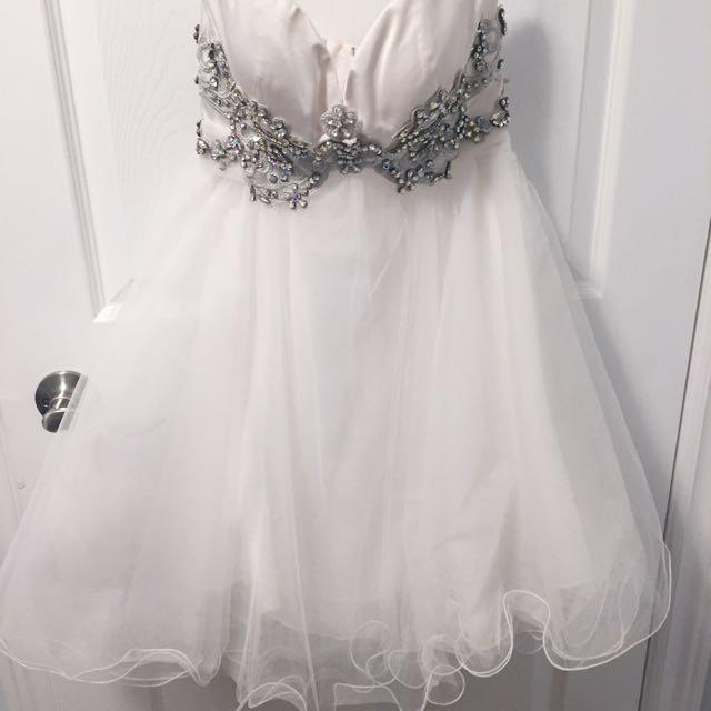 Sherri Hill prom dress with swarvoski crystals size 00 (xs-s) strapless