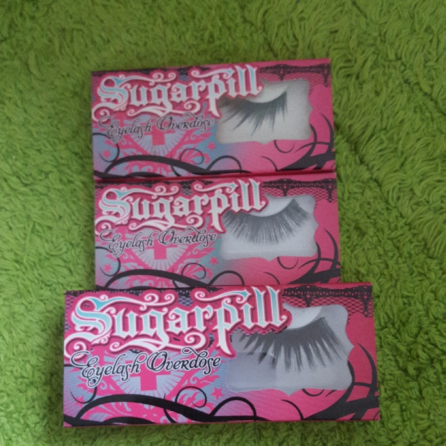 Sugarpill false eyelashes x 3 pairs