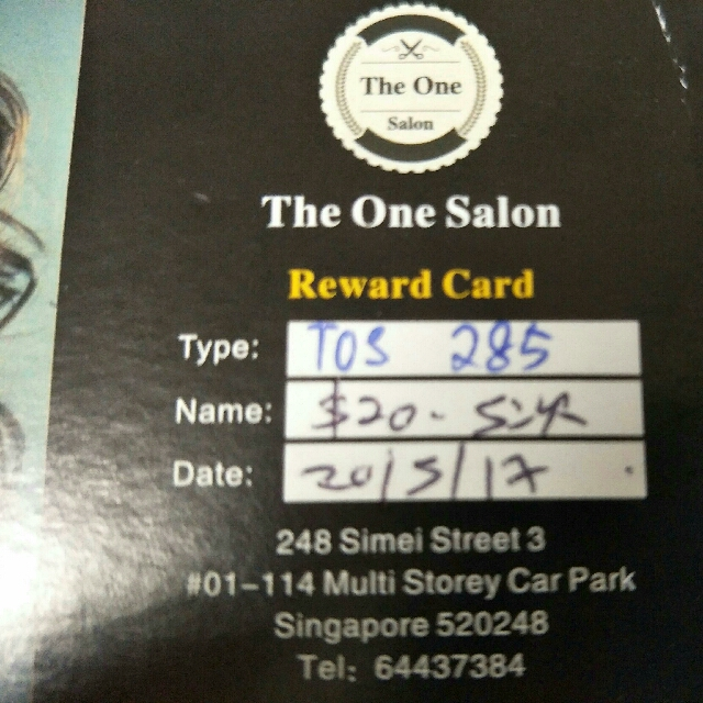 The One Salon Reward Card