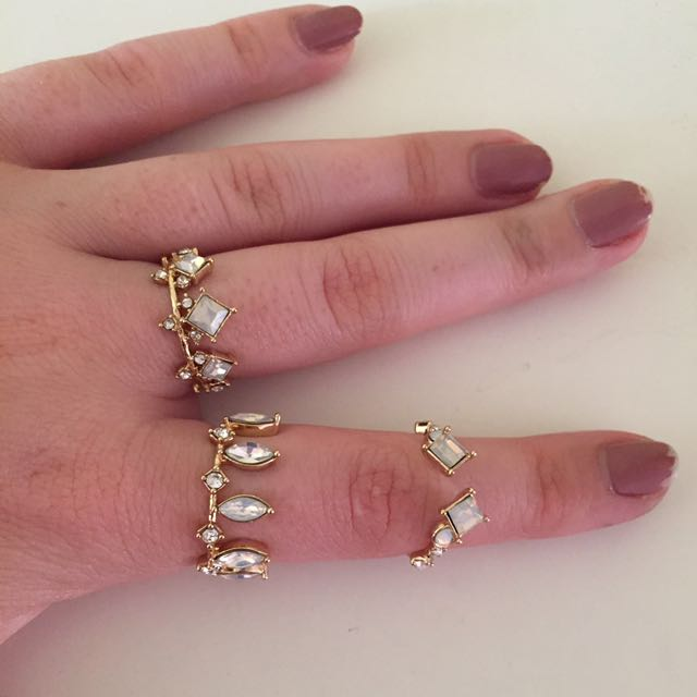 Three free people rings