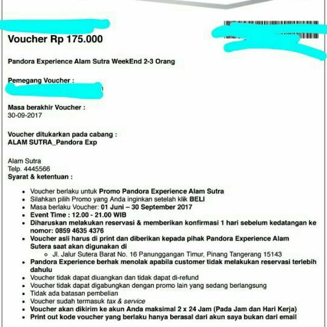 Tiket Pandora Experience Alam Sutera