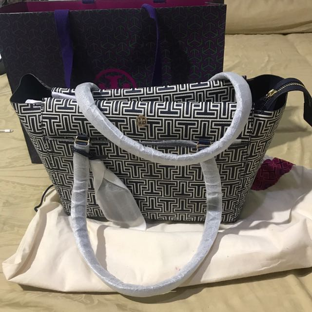 Tory Burch Parker Geo T Small Tote