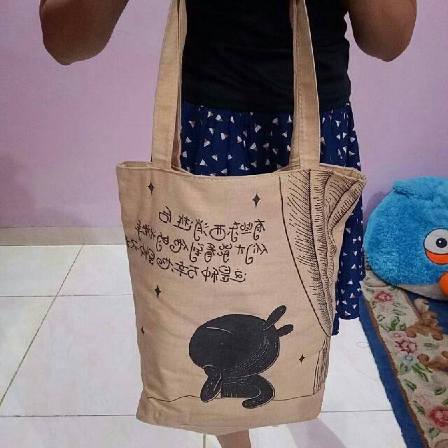 Tote Bag Cokelat