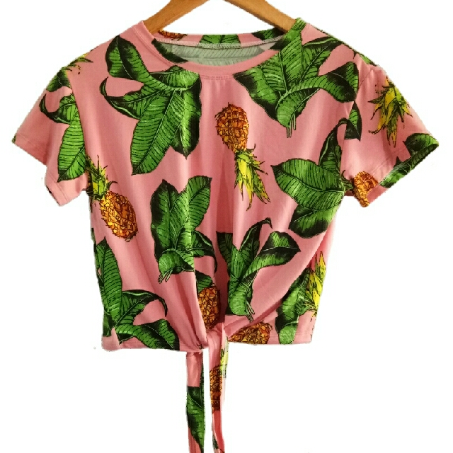 Tropical Cropped Top
