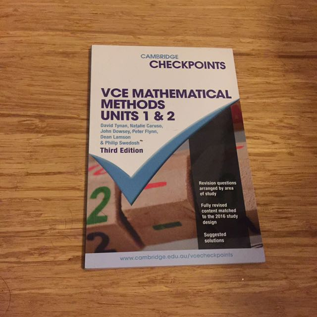VCE Methods Checkpoints