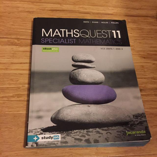 VCE Unit 1/2 Specialist Maths