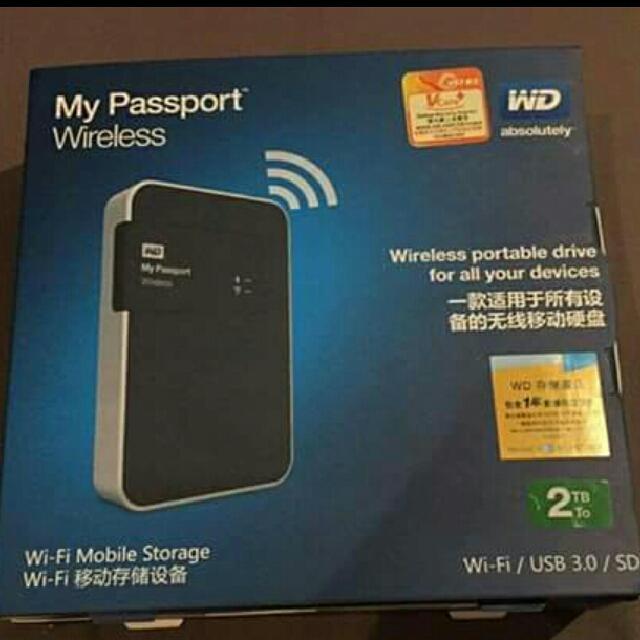 WD Wireless Hard Drive 2TB