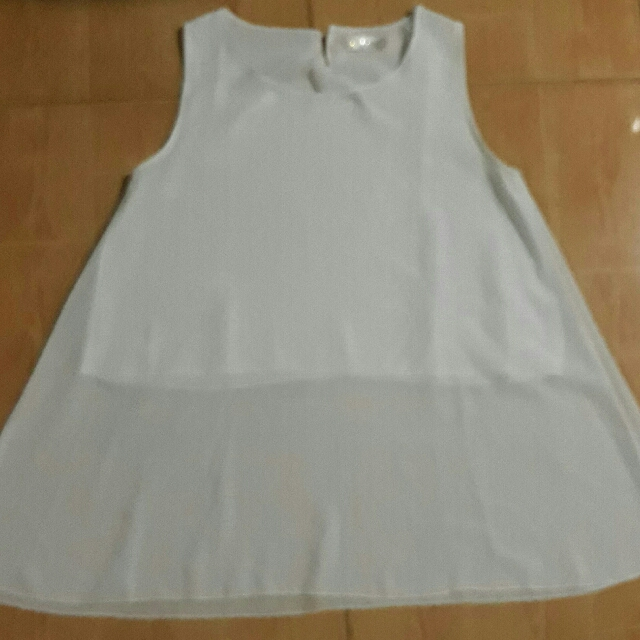 White Chiffon Sleeveless Blouse