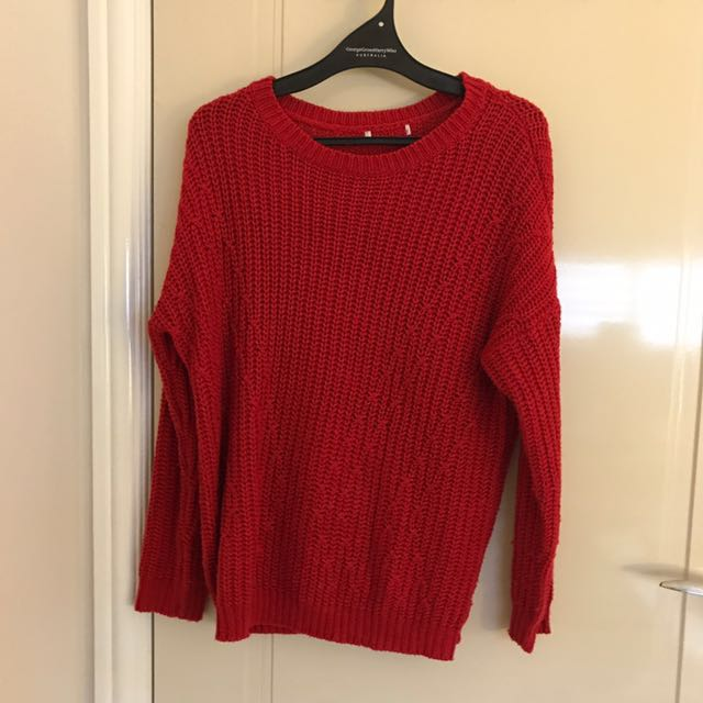 Women's red knit
