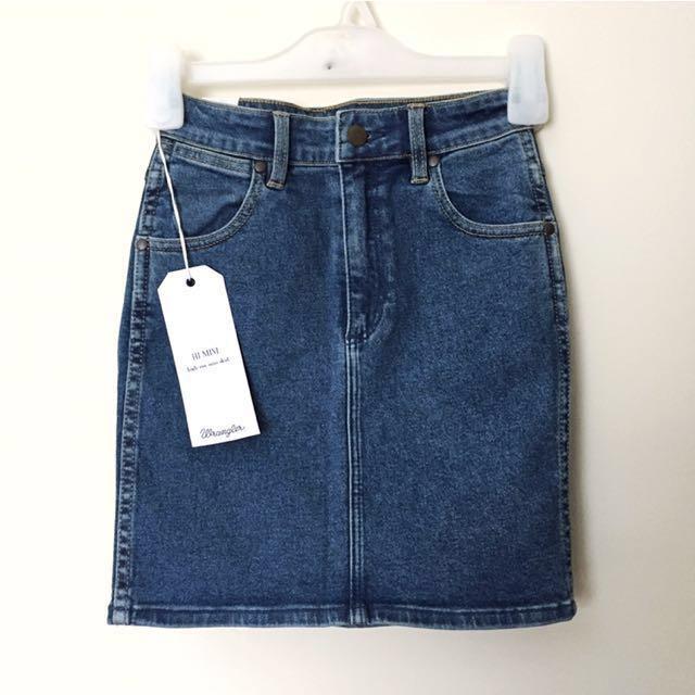 Wrangler High Waisted Denim Skirt