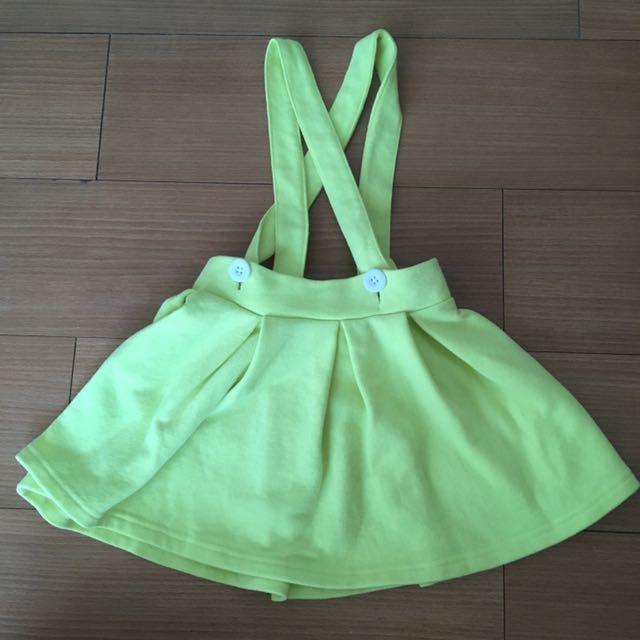 Yellow overall skirt