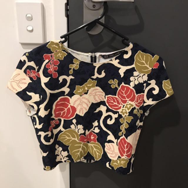 Zara Crop Top flora