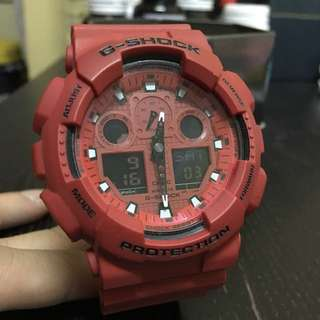 Original G-Shock GA100C red dial