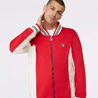 FILA Vintage Red Zip Up