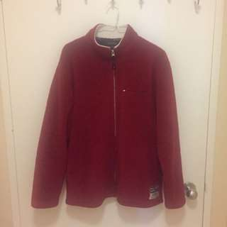 TOMMY HILFIGER Red Zip Up Fleece Jacket