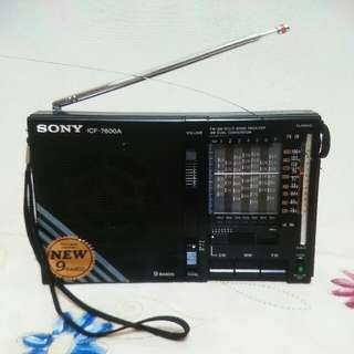 SONY ICF-7600A FM/MW/SW 9 BAND RECEIVER