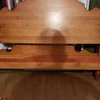 Wooden bed frame and box spring (pick up only)