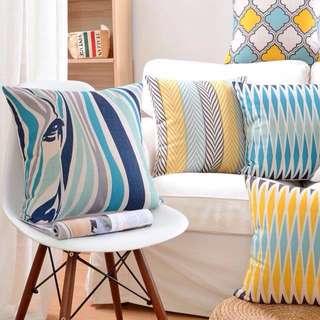 Geometric Scandi Pillowcase Cushion Cover