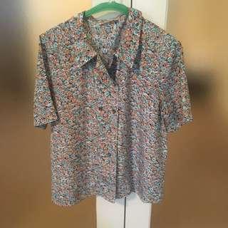 Vintage Indie women's dress shirt