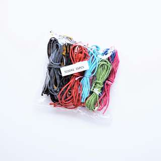 Waxed Cotton Cords/Strings/Threads (15 Pieces in Assorted Colours)